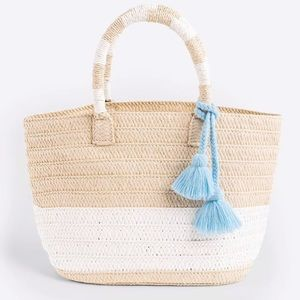 Brand New Altru Straw Tote with tassel